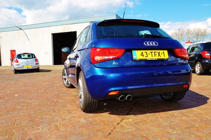 Audi A1 -femmefrontaal-achterkant