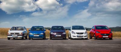 32 jaar Opel Corsa's