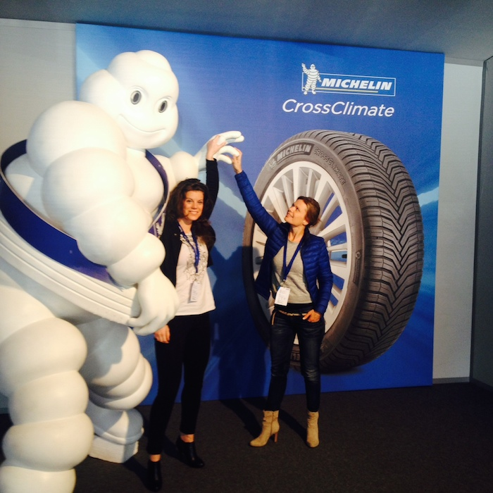 Friends for life met Michelinmannetje