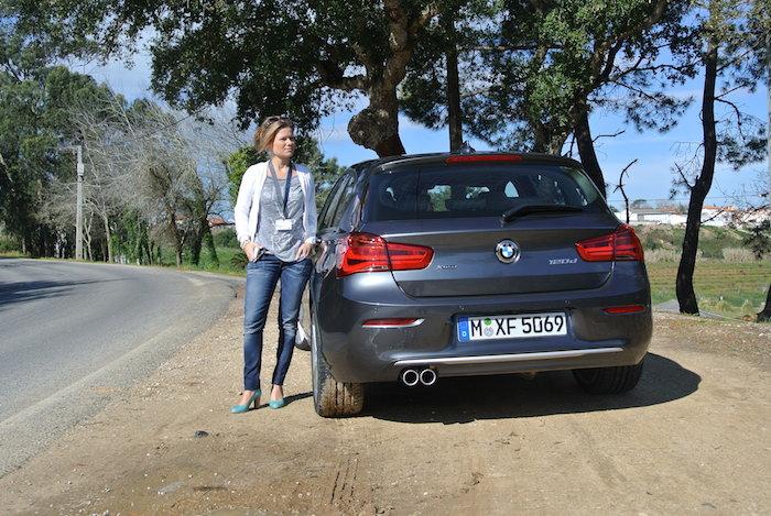 BMW 1 Serie achter femmefrontaal