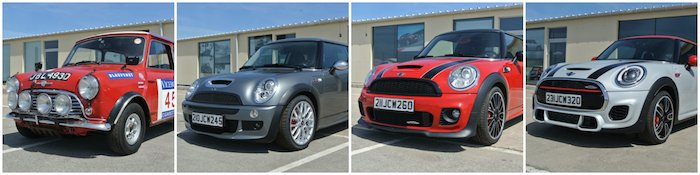 Vier generaties MINI JCW