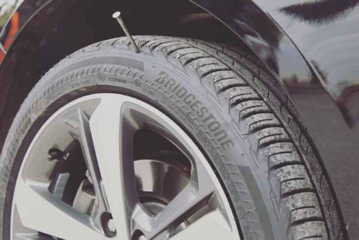 Bridgestone Driveguard nail in tire