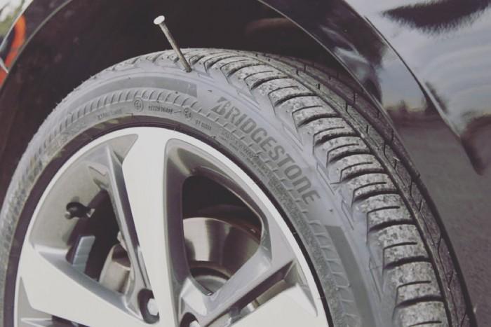 Bridgestone Driveguard nail in tire