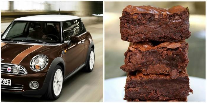 Brownie collage - toetjes en auto's
