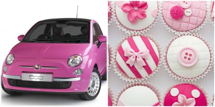 Cupcake Collage - toetjes en auto's