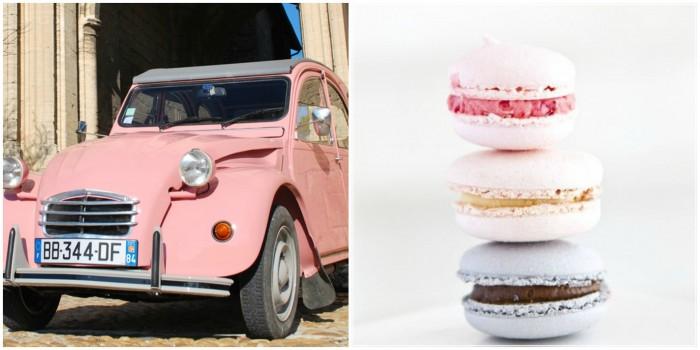 Macaron Collage - toetjes en auto's