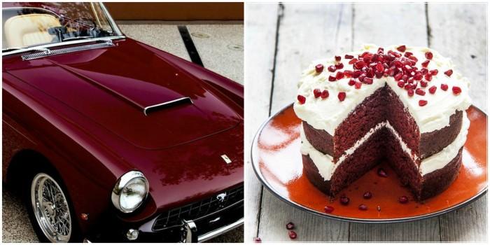RedVelvet Collage - toetjes en auto's