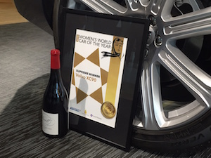 Women's World Car of the Year wine
