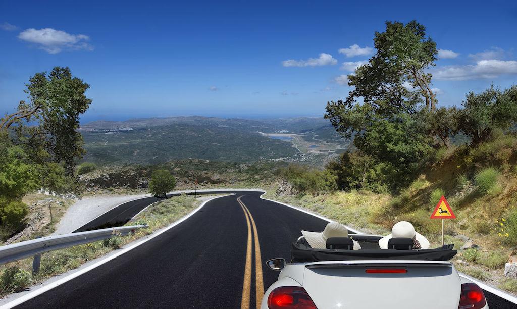 rijden in de bergen