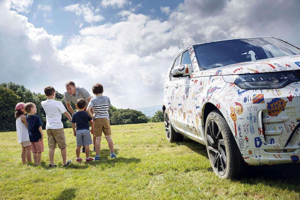 Nieuwe Land Rover Discovery Gebruikt Als Kleurplaat