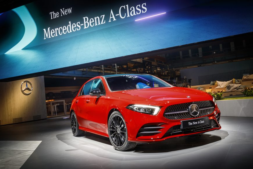 Die neue Mercedes-Benz A-Klasse: Weltpremiere in AmsterdamThe new Mercedes-Benz A-Class: World premiere in Amsterdam